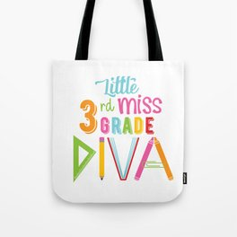 Little Miss 3rd Grade Diva Tote Bag