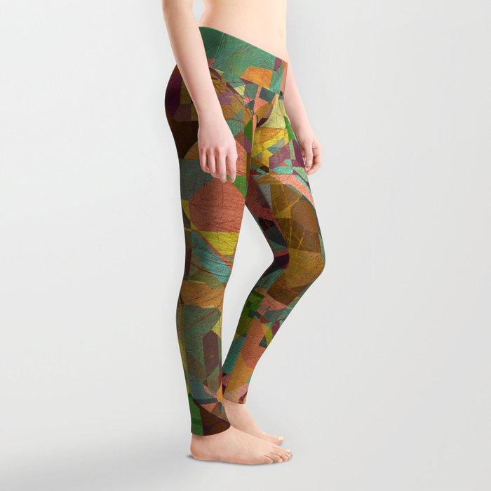Aztec Vintage Pattern 03 Leggings