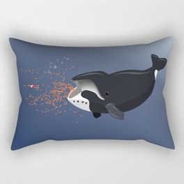 Pinocchio and the Bowhead whale Rectangular Pillow