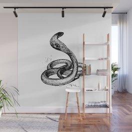 Cobra Snake Silhouette Wall Mural