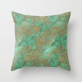 Verdigris Patched Texture Throw Pillow