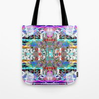 rave Tote Bags featuring RATE RAVE by Riot Clothing