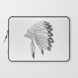 Native american indian headdress illustration Laptop Sleeve