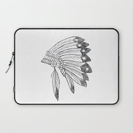 Native american indian headdress illustration Laptop Sleeve