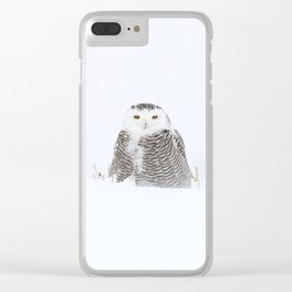 White on white Clear iPhone Case