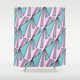 Pennant Pattern 2 rose Shower Curtain