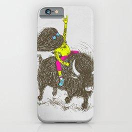 Ride a buffalo iPhone Case