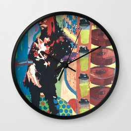 Repeating Green Protein Shakes Wall Clock