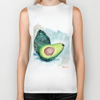 avocado Biker Tanks featuring Avocado by Elena Sandovici