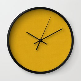 Earth tone - Mustard Wall Clock