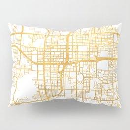 ORLANDO FLORIDA CITY STREET MAP ART Pillow Sham