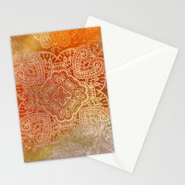 paisley star in hot hues Stationery Cards