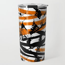 Floral Tiger Animal Print Travel Mug