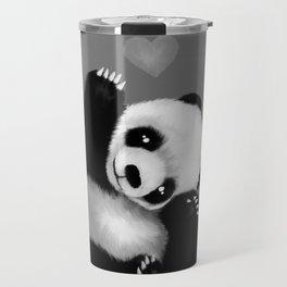 Panda Love (Monochrome) Travel Mug