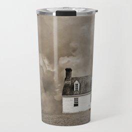 House in Sepia Brown Travel Mug