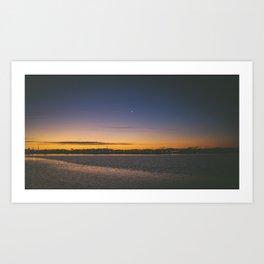 Christchurch Sunset Art Print