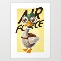 Corporal Duck Art Print