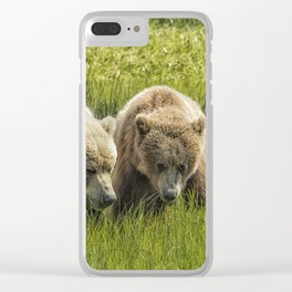 Eating Side by Side Clear iPhone Case
