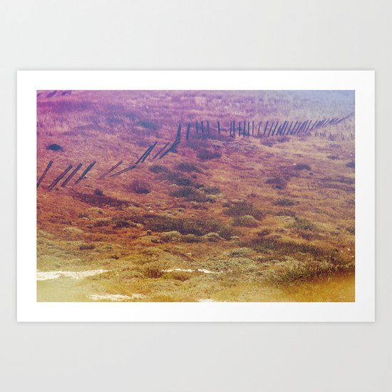 Channel Fence Art Print