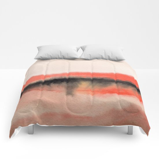 Watercolor abstract landscape 07 Comforters