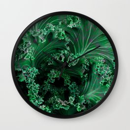 Fractal Lettuce Green Leaf Sublime Beauty Print Wall Clock