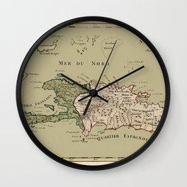Map Of Hispaniola 1767 Wall Clock