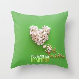 You Make My Heart Pop! Throw Pillow