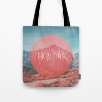 explore Tote Bags featuring Explore by Zeke Tucker
