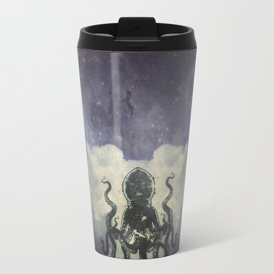 Flying Squid Metal Travel Mug
