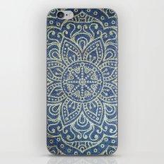 Gold Mandala on Blue Jeans iPhone & iPod Skin