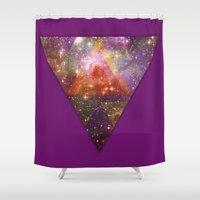 stargate Shower Curtains featuring Space by Square Lemon