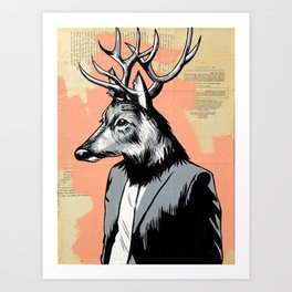 Deerly Beloved Art Print