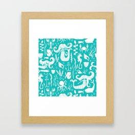 Under The Sea Aqua Framed Art Print