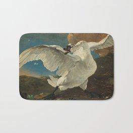 The threatened swan - Jan Asselijn (1650) Bath Mat