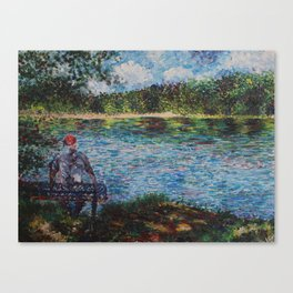 The Old Man and the Lake Canvas Print