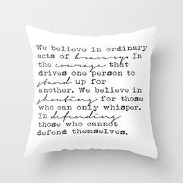 Dauntless Manifesto Throw Pillow