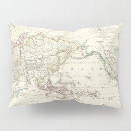 Vintage Map of The World (1816) Pillow Sham