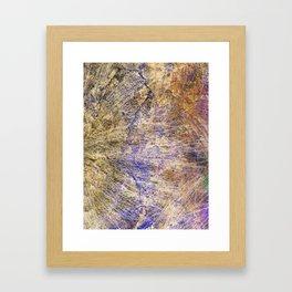 Purple Gold Framed Art Print