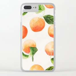 Satsumas Watercolor Painting Clear iPhone Case