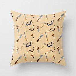 Wood shop Throw Pillow
