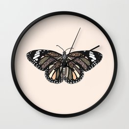 animal print butterfly Wall Clock