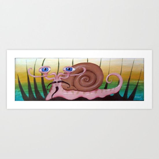 Toulouse the French Snail Art Print