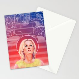 Gillian Anderson - 1968 -  US Characters Stationery Cards