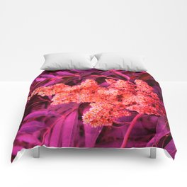Red Sideways Sumac Comforters