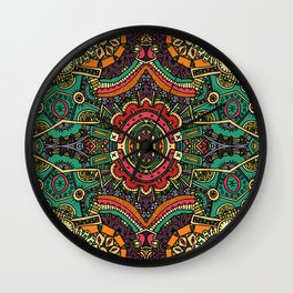 Boho pattern II Wall Clock