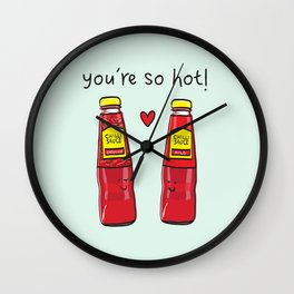 You're So Hot Wall Clock