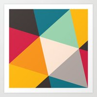 triangles Art Prints featuring Triangles by Gary Andrew Clarke