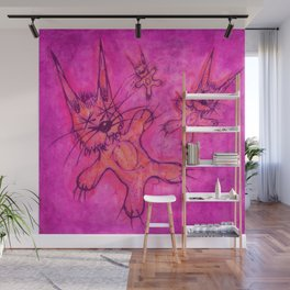 Record Cover for some Jazzed Rabbits, Violetish. Wall Mural