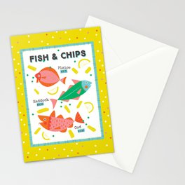 Fish & Chips Stationery Cards