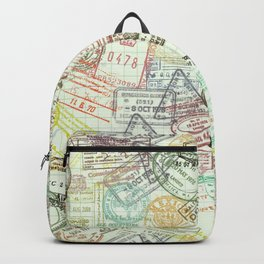 Passport Stamps Backpack